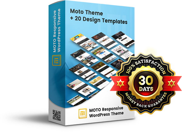 Moto Theme: Drag n Drop Website & Page Builder Easily